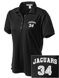 Johnson Elementary School Jaguars  Embroidered Women's Bamboo Charcoal Birdseye Jacquard Polo