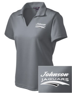 Johnson Elementary School Jaguars Embroidered Women's Dri Mesh Polo