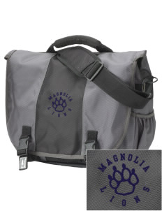 Magnolia Elementary School Lions  Embroidered Montezuma Messenger Bag