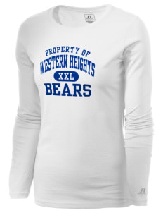 Western Heights Middle School Bears  Russell Women's Long Sleeve Campus T-Shirt