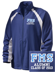 Friedman Middle School Falcons  Embroidered Men's Full Zip Warm Up Jacket