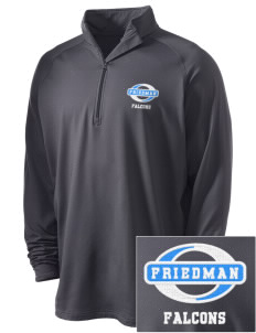 Friedman Middle School Falcons Embroidered Men's Stretched Half Zip Pullover