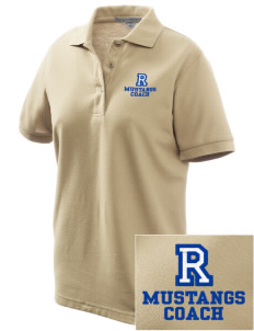 Ramona Elementary School Mustangs Women's Embroidered Silk Touch Polo