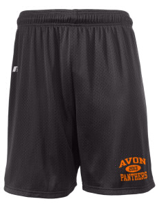 "Avon Middle High School Panthers  Russell Men's Mesh Shorts, 7"" Inseam"
