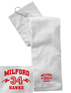 Milford High School Hawks Embroidered Hand Towel with Grommet