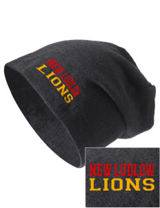 New Ludlow Elementary School Lions Embroidered Slouch Beanie