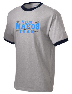 Vista del Mar School Makos Champion Men's Ringer T-Shirt