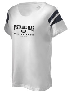 Vista del Mar School Makos Holloway Women's Shout Bi-Color T-Shirt