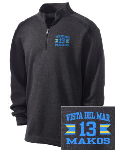 Vista del Mar School Makos Embroidered Nike Men's Golf Heather Cover Up