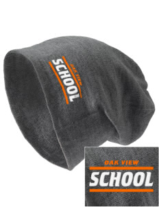 Oak View School Embroidered Slouch Beanie