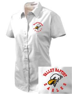 Valley Baptist Academy Eagles Embroidered Women's Easy Care Short Sleeve Shirt