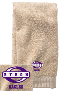 Byron Elementary School Eagles  Embroidered Zero Twist Resort Hand Towel