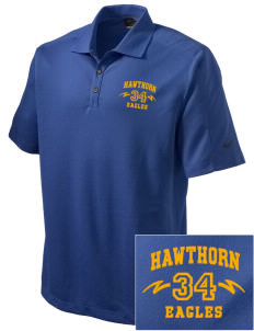 Hawthorn Eagles Embroidered Nike Men's Dri-FIT Pique II Golf Polo