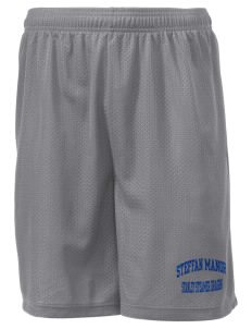 "Steffan Manor Elementary School Stanley Steamer Dragon Men's Mesh Shorts, 7-1/2"" Inseam"