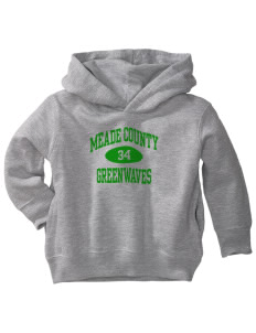 Meade County High School Greenwaves  Toddler Fleece Hooded Sweatshirt with Pockets