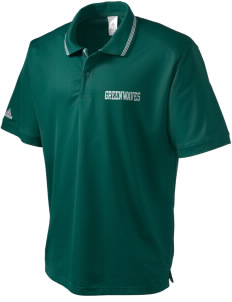 Meade County High School Greenwaves adidas Men's ClimaLite Athletic Polo