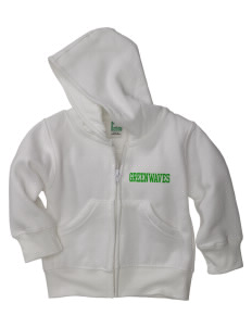 Meade County High School Greenwaves Baby Full Zip Hoodie