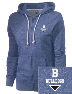 Bidwell Elementary School Bulldogs Embroidered Women's Marled Full-Zip Hooded Sweatshirt