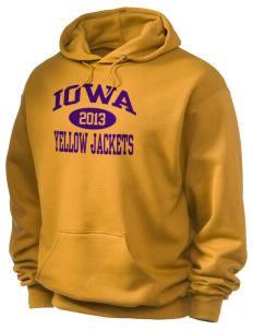 Iowa High School Yellow Jackets Holloway Men's 50/50 Hooded Sweatshirt