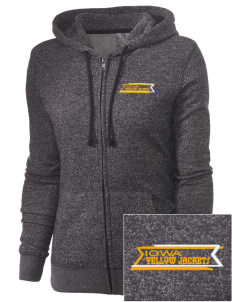 Iowa High School Yellow Jackets Embroidered Women's Marled Full-Zip Hooded Sweatshirt