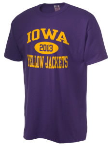Iowa High School Yellow Jackets  Russell Men's NuBlend T-Shirt