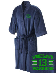 Woodlawn Middle School Warriors Embroidered Terry Velour Robe