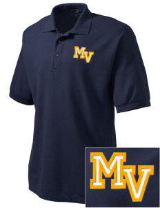 Martha Vinyard Elementary School Vikings Embroidered Men's Silk Touch Polo