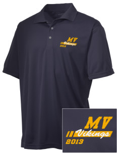 Martha Vinyard Elementary School Vikings Embroidered Men's Double Mesh Polo