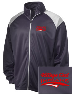 Village East School Indians Embroidered Men's Tricot Track Jacket