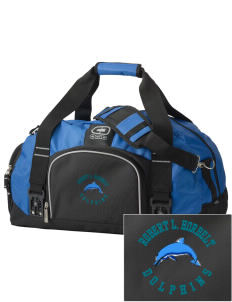 Robert L. Horbelt Dolphins  Embroidered OGIO Big Dome Duffel Bag