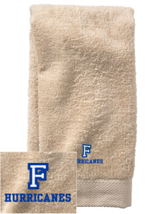 Franklin Middle School Hurricanes  Embroidered Zero Twist Resort Hand Towel