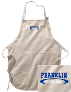 Franklin Middle School Hurricanes Embroidered Full-Length Apron with Pockets