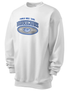 Franklin Middle School Hurricanes Men's 7.8 oz Lightweight Crewneck Sweatshirt