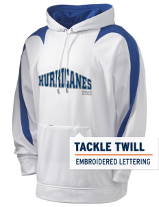 Franklin Middle School Hurricanes Holloway Men's Sports Fleece Hooded Sweatshirt with Tackle Twill