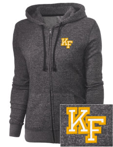 Knight Fundamental Academy Knight Hawks Embroidered Women's Marled Full-Zip Hooded Sweatshirt