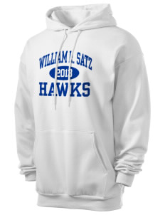 William R. Satz School Hawks Men's 7.8 oz Lightweight Hooded Sweatshirt