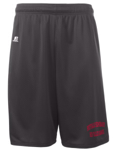 "Buffalo Seminary Red-Tailed Hawks  Russell Deluxe Mesh Shorts, 10"" Inseam"