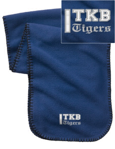 Thomas K Beecher Elementary School Tigers Embroidered Fleece Scarf