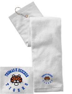 Thomas K Beecher Elementary School Tigers Embroidered Hand Towel with Grommet