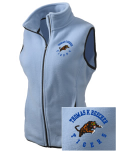 Thomas K Beecher Elementary School Tigers Embroidered Women's Fleece Vest