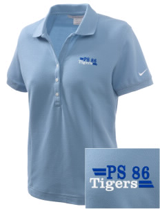 PS 86 Saint Lawrence School Tigers Embroidered Nike Women's Pique Golf Polo