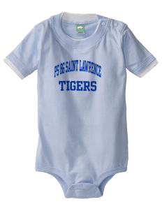 PS 86 Saint Lawrence School Tigers Baby One-Piece with Shoulder Snaps