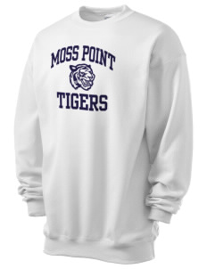 Moss Point High School Tigers Men's 7.8 oz Lightweight Crewneck Sweatshirt