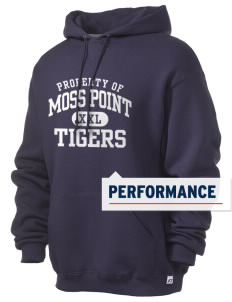 Moss Point High School Tigers Russell Men's Dri-Power Hooded Sweatshirt