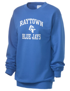 Raytown Middle School Blue Jays Unisex 7.8 oz Lightweight Crewneck Sweatshirt