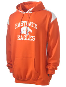 Eastgate Middle School Eagles Men's Pullover Hooded Sweatshirt with Contrast Color