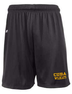 "Cuba Middle School Wildcats  Russell Men's Mesh Shorts, 7"" Inseam"