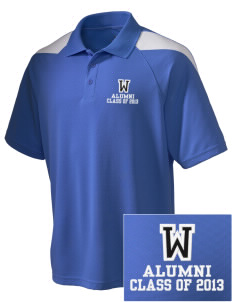 Waterloo School Panthers Embroidered Holloway Men's Frequency Performance Pique Polo