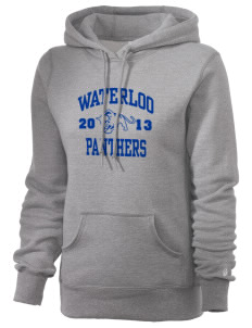 Waterloo School Panthers Russell Women's Pro Cotton Fleece Hooded Sweatshirt