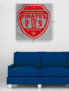 "Plainview Elementary School Pirates Wall Poster Decal 36"" x 36"""